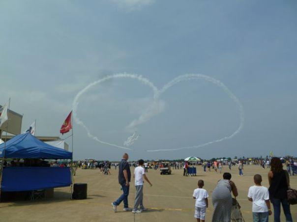 Air Show Heart