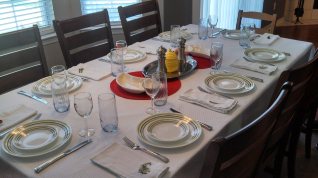 Erev Rosh Hashanah Table Setting