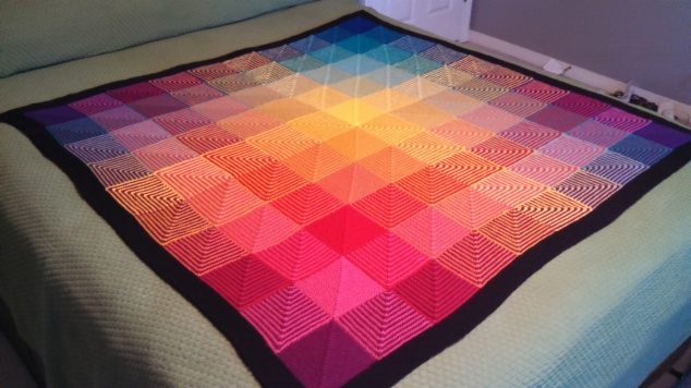 Hue Shift Afghan, View Two
